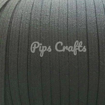 Black Soft Elastic - 5mm Wide
