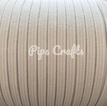 White Soft Elastic - 5mm Wide