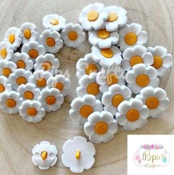 Daisy Flower Buttons - 21mm
