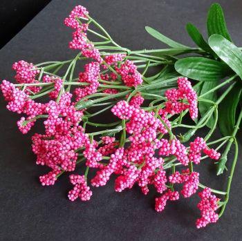 Beautiful Artificial Gypsophila Flowers  - Deep Pink