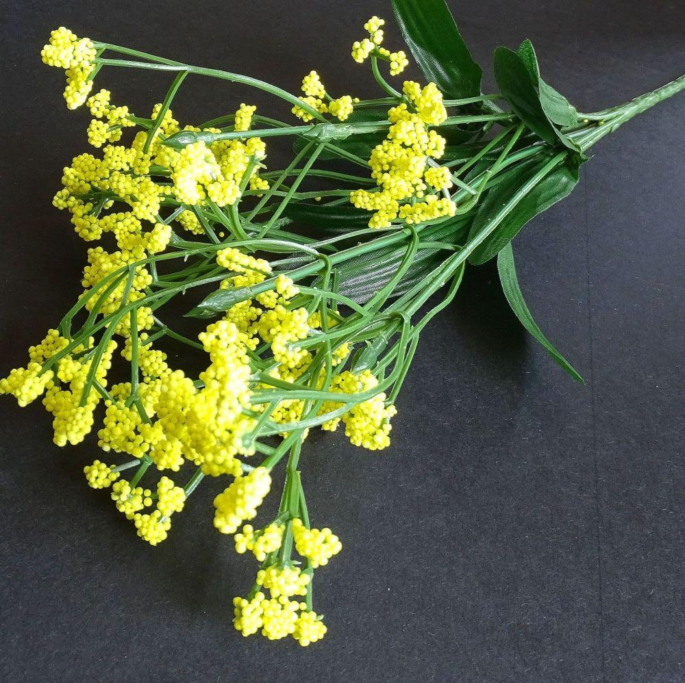Beautiful Artificial Gypsophila Flowers  - Yellow