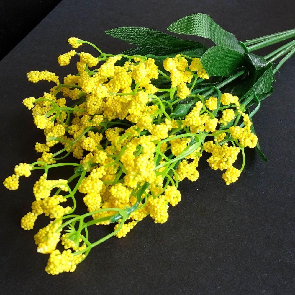 Beautiful Artificial Gypsophila Flowers  - Mustard