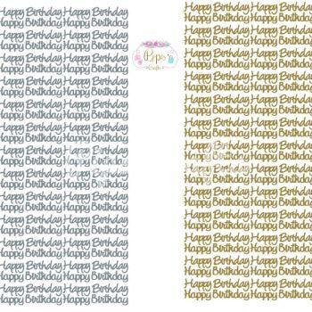 Small Happy Birthday Peel Off Sticker Sheet