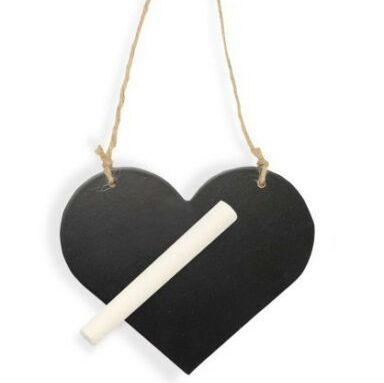 Small Hanging Heart, Wooden Blackboard