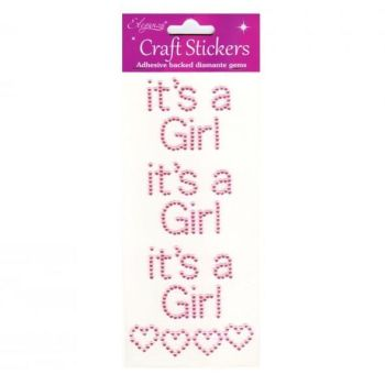 Diamante Baby Stickers - It's a Girl