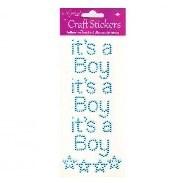 Diamante Baby Stickers - It's a Boy