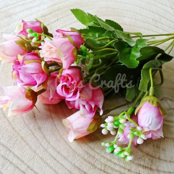 Beautiful Artificial Bunch of Roses 18 Heads  - Pink