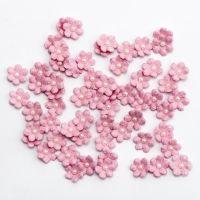 Mini Glitter Paper Flowers - Pink