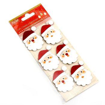 3D Self Adhesive Christmas Glitter Stickers - Santa