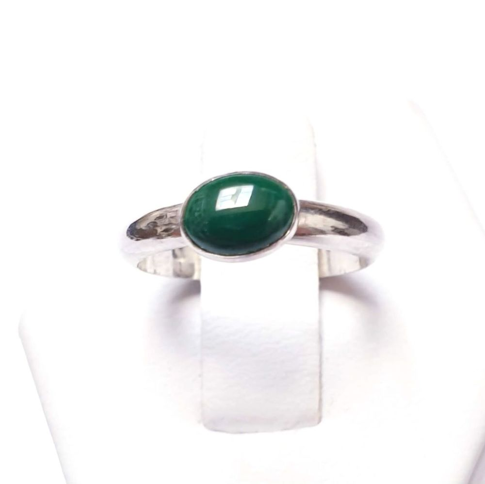 Sterling Silver & Malachite Stacking Ring