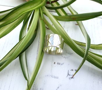 Chunky Silver Printed Ring UK Size P