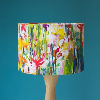 Flowerbed Watercolour Lampshade