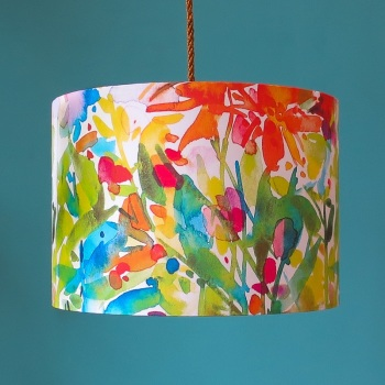 Dahlia Watercolour Lampshade
