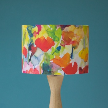 Summer Garden Watercolour Lampshade