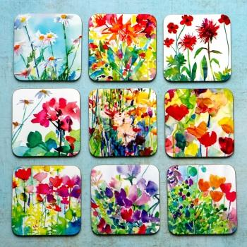 Watercolour Flower Garden Coasters