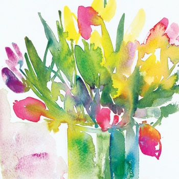 Tulip Vase Greetings Card