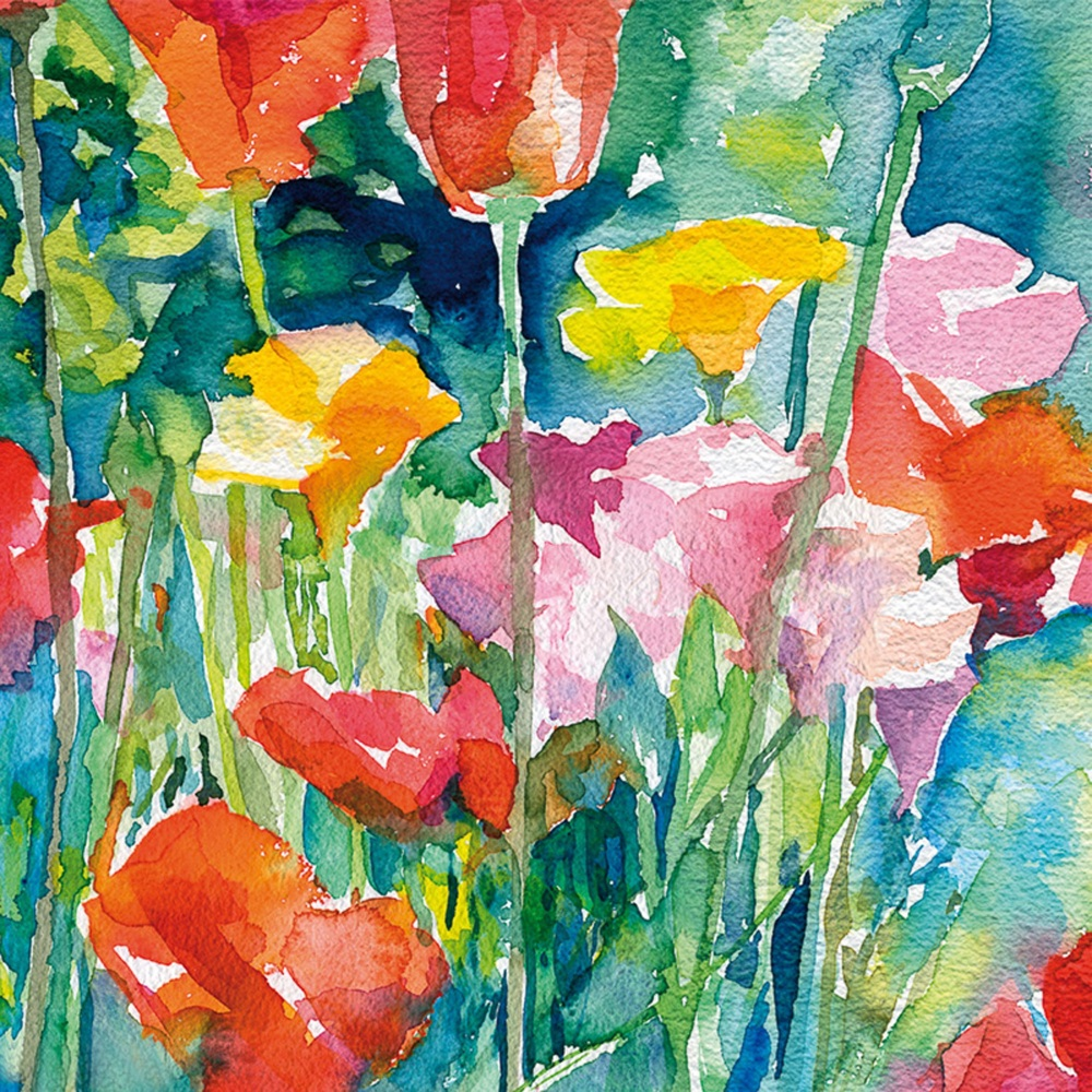 Poppies Greetings Card