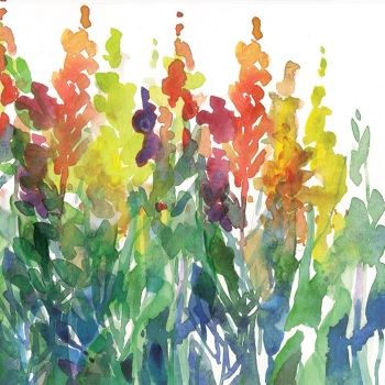 Colour Spires Greetings Card