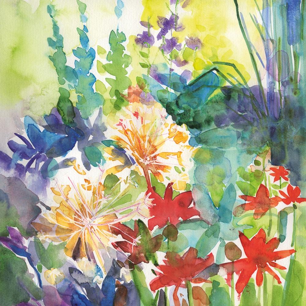 Allium Seedheads Greetings Card