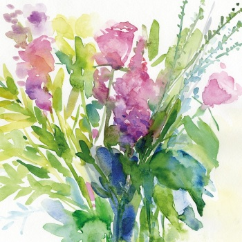 Summer Bouquet Greetings Card