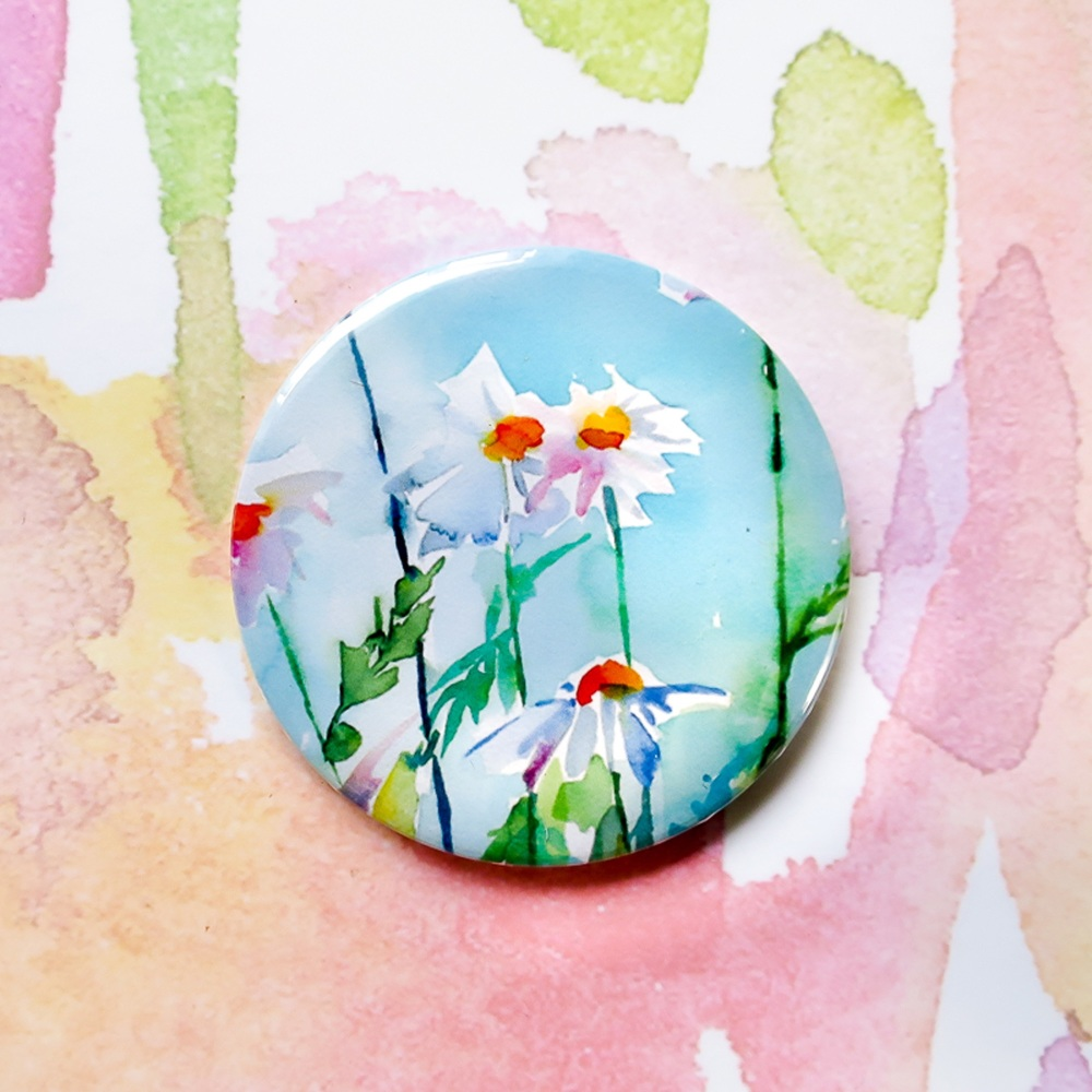 Daisies Pocket Mirror