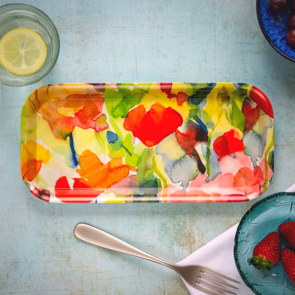 Melamine Tray 'Summer Garden'- Medium
