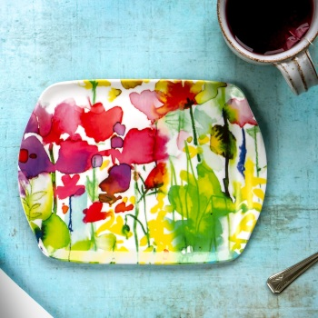 Melamine Tray 'Butterflies' - Small