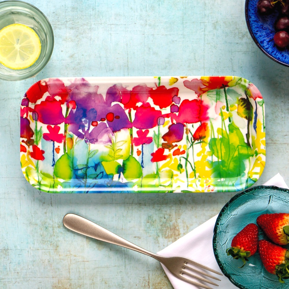 Melamine Tray 'Butterflies' - Medium