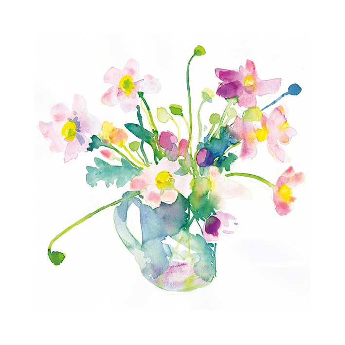 Anemones in a Jug signed Print