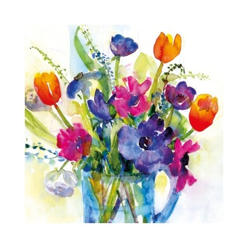 Tulips and Anemones signed Print