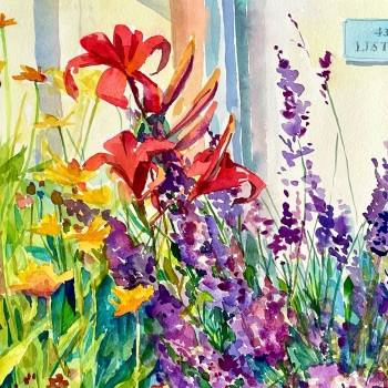 Lavender and Lilies