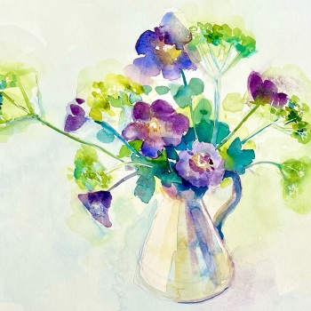 Geraniums and Fennel 2