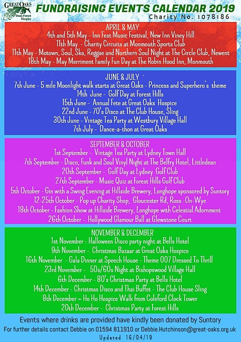 Events Calendar 19