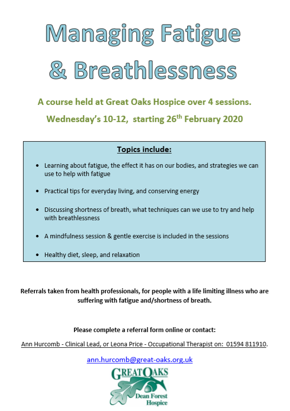 Managing Fatigue & Breathlessness
