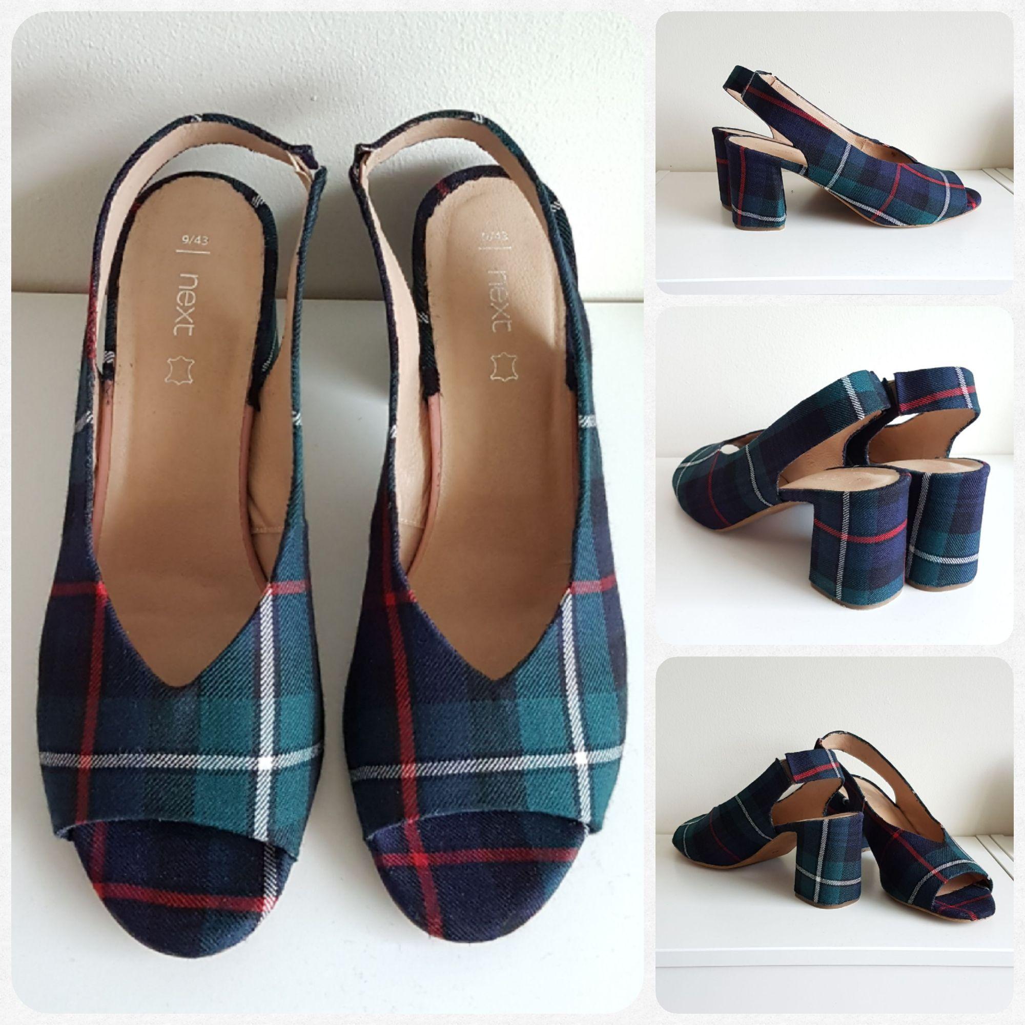 Tartan slingback sandals