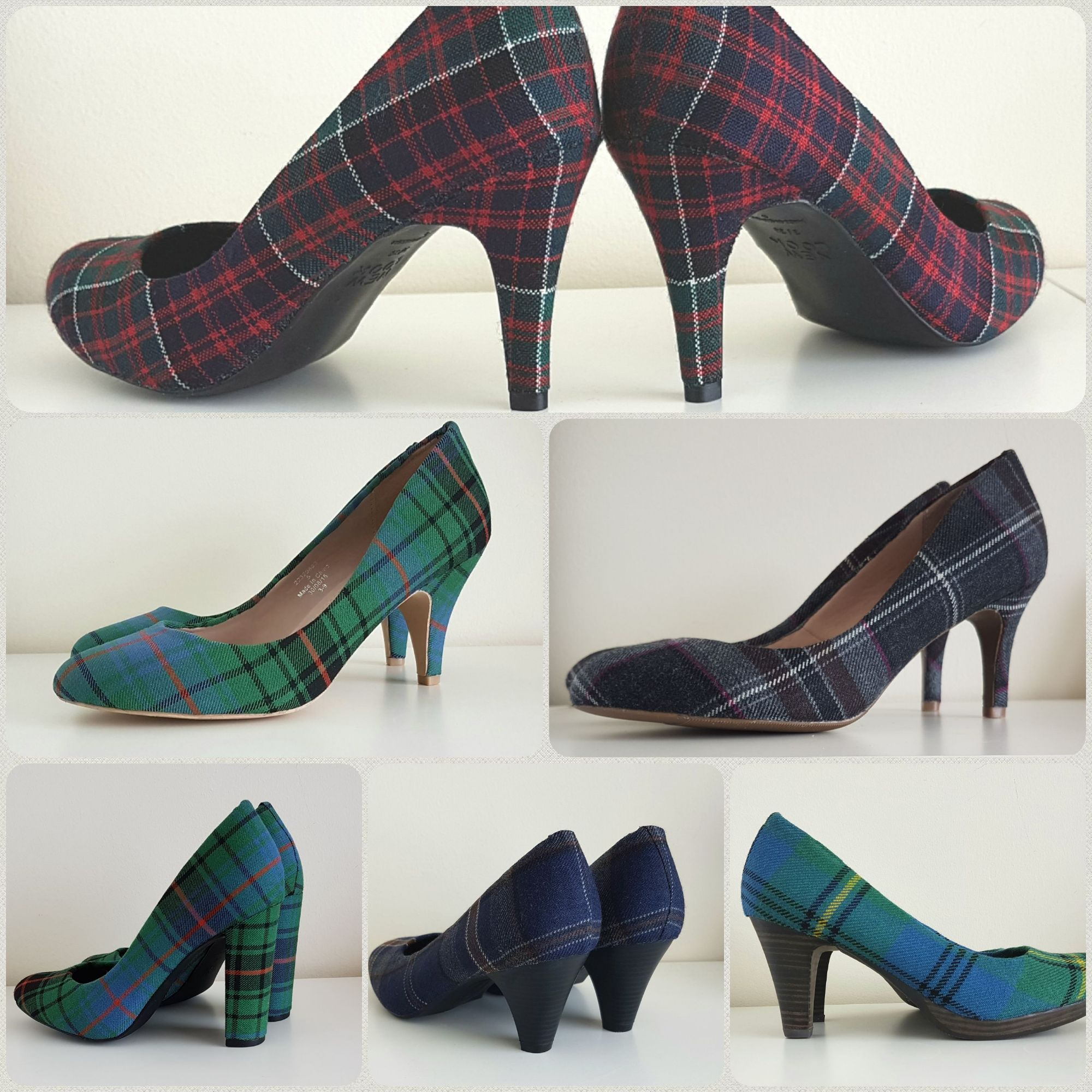 Tartan shoes, wedding tartan shoes, plaid shoes
