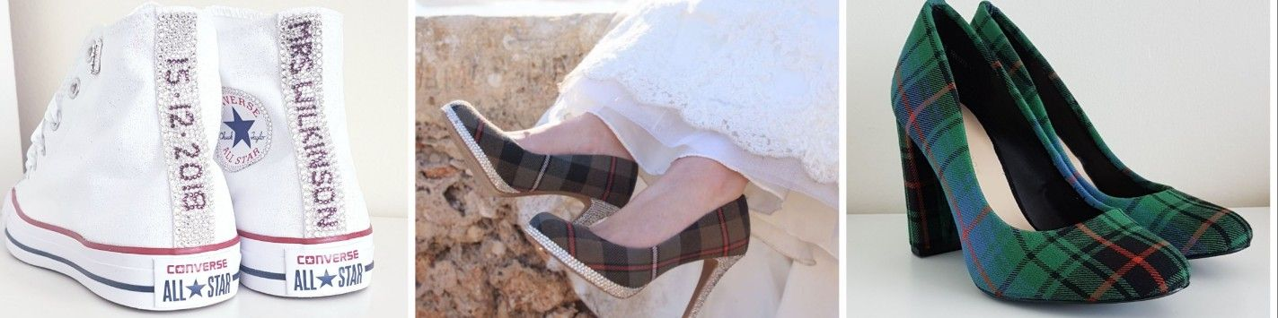 Custom tartan wedding shoes