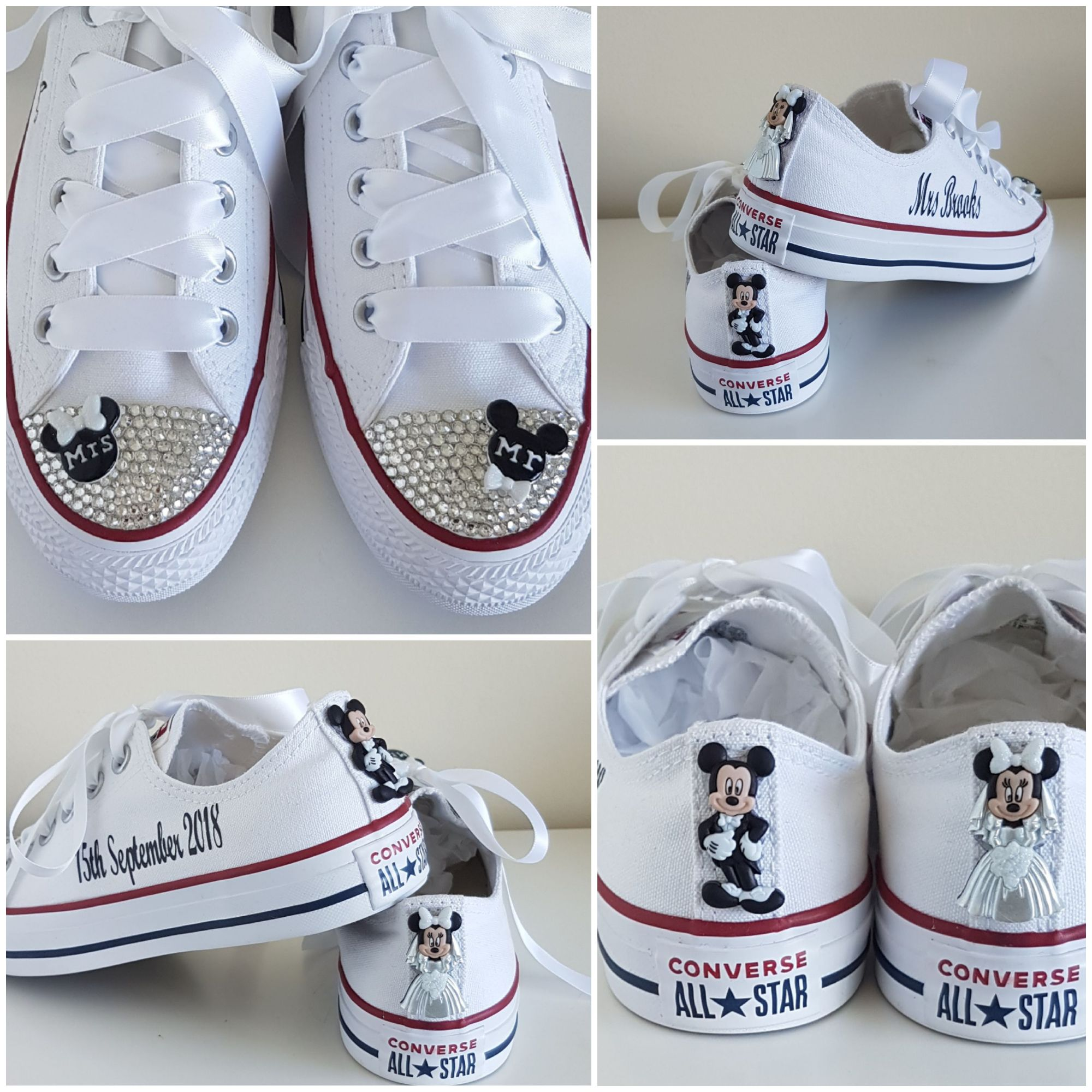 Disney inspired personalised crystal converse