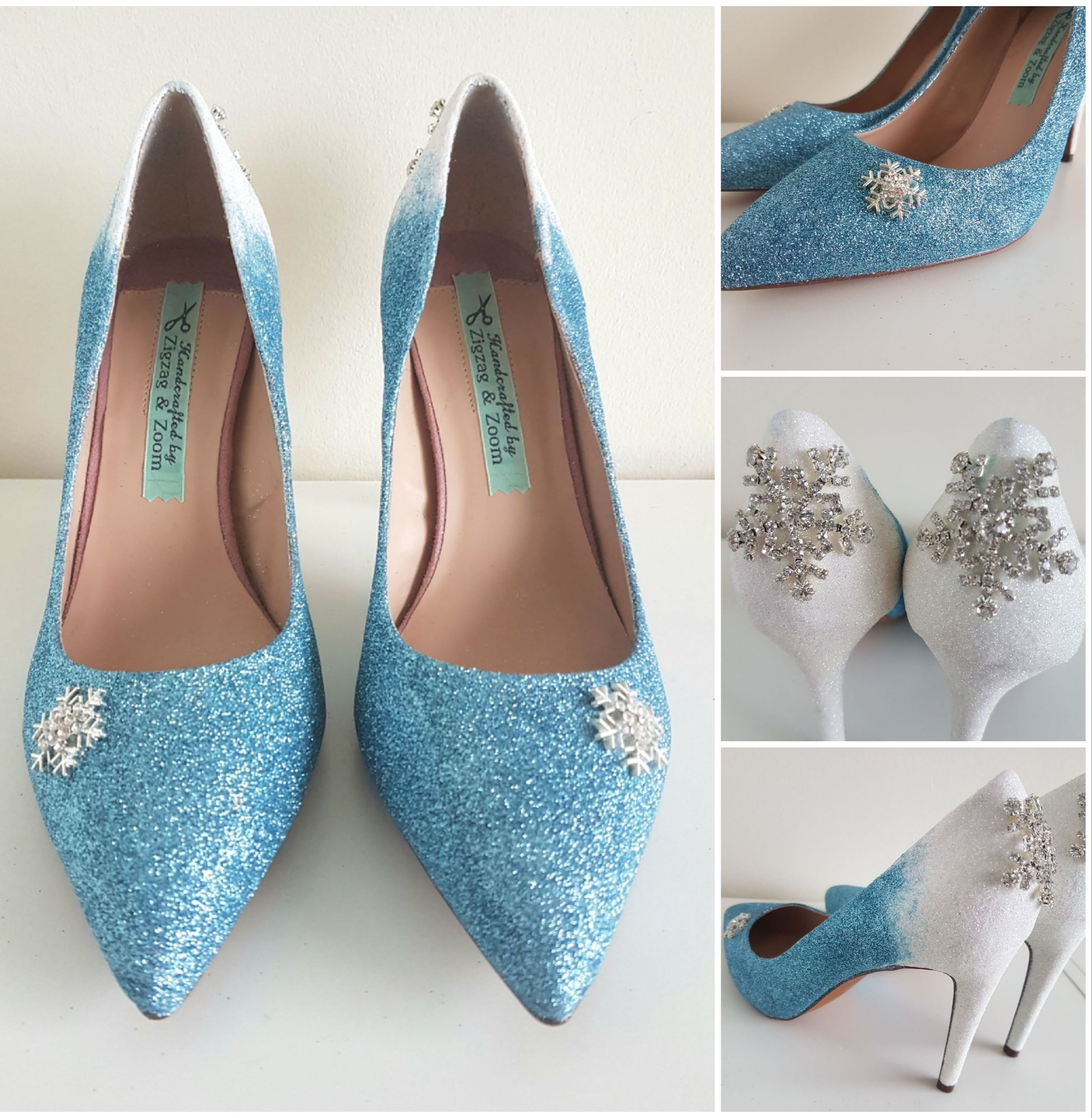 Tiffany blue, Frozen inspired wedding shoes, snowy winter heels