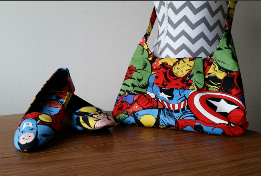 Marvel superhero bag & shoes