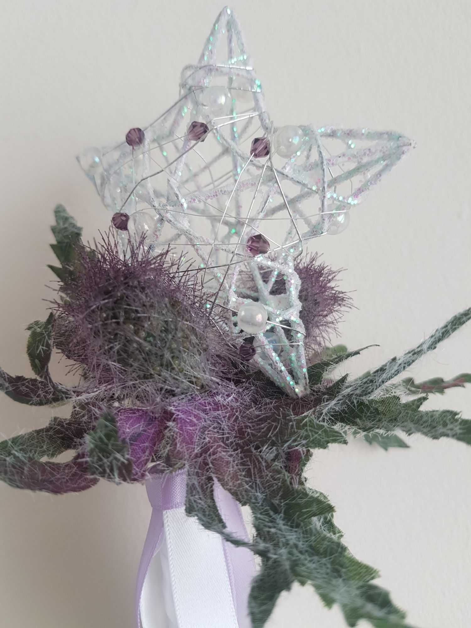 Thistle wand, scottish wedding