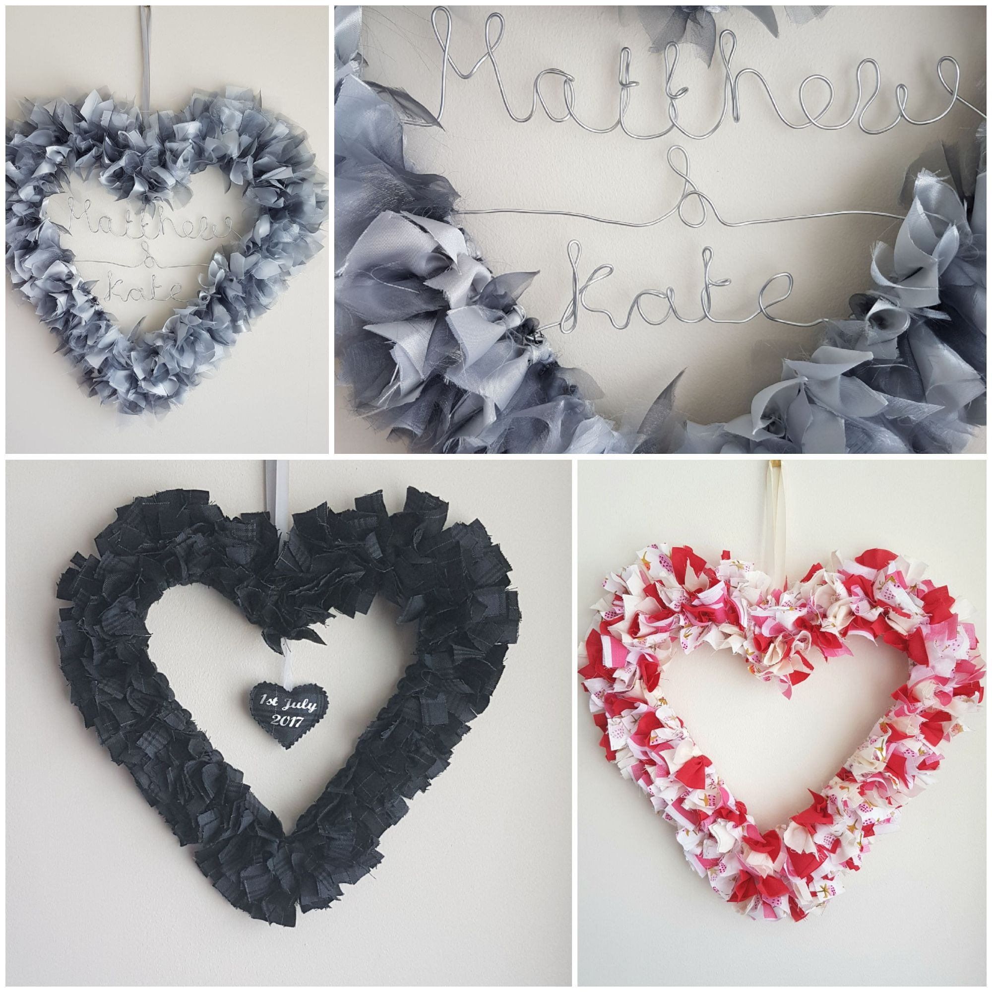 Rag garlands, gift idea