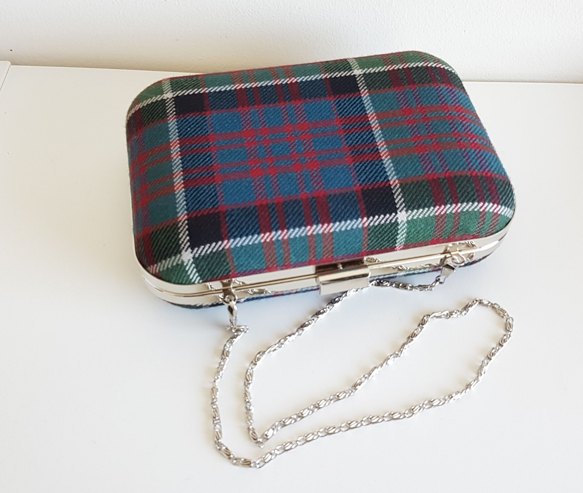 Blue & Green tartan bag