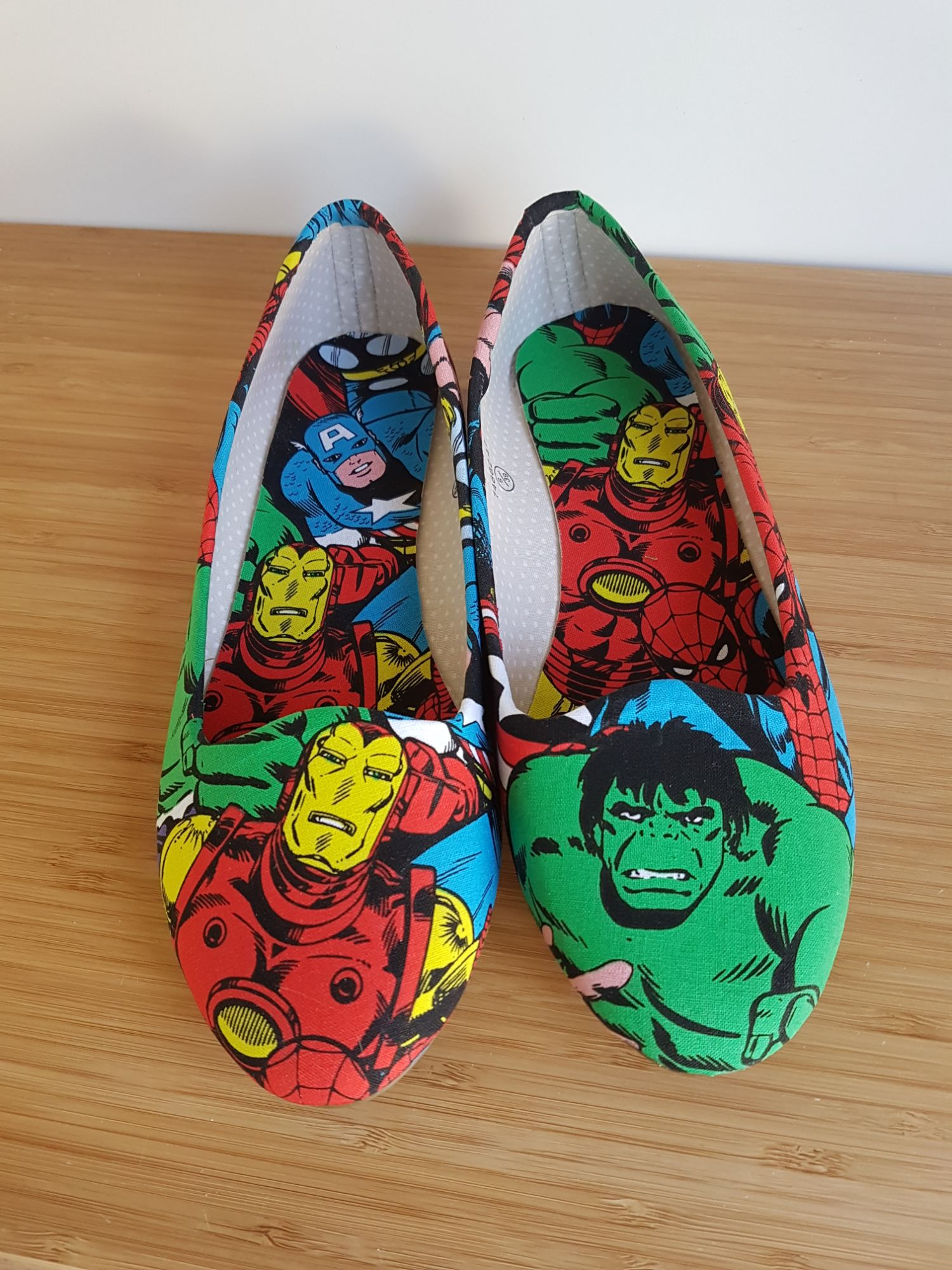 Marvel superhero flats