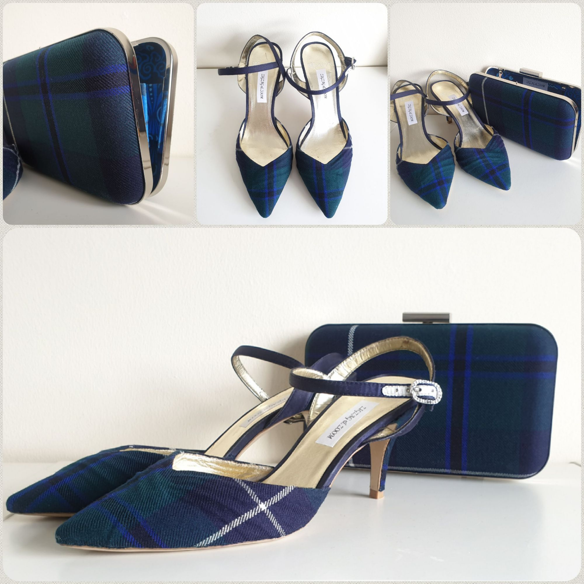 Modern Douglas Tartan upcycled wedding shoes