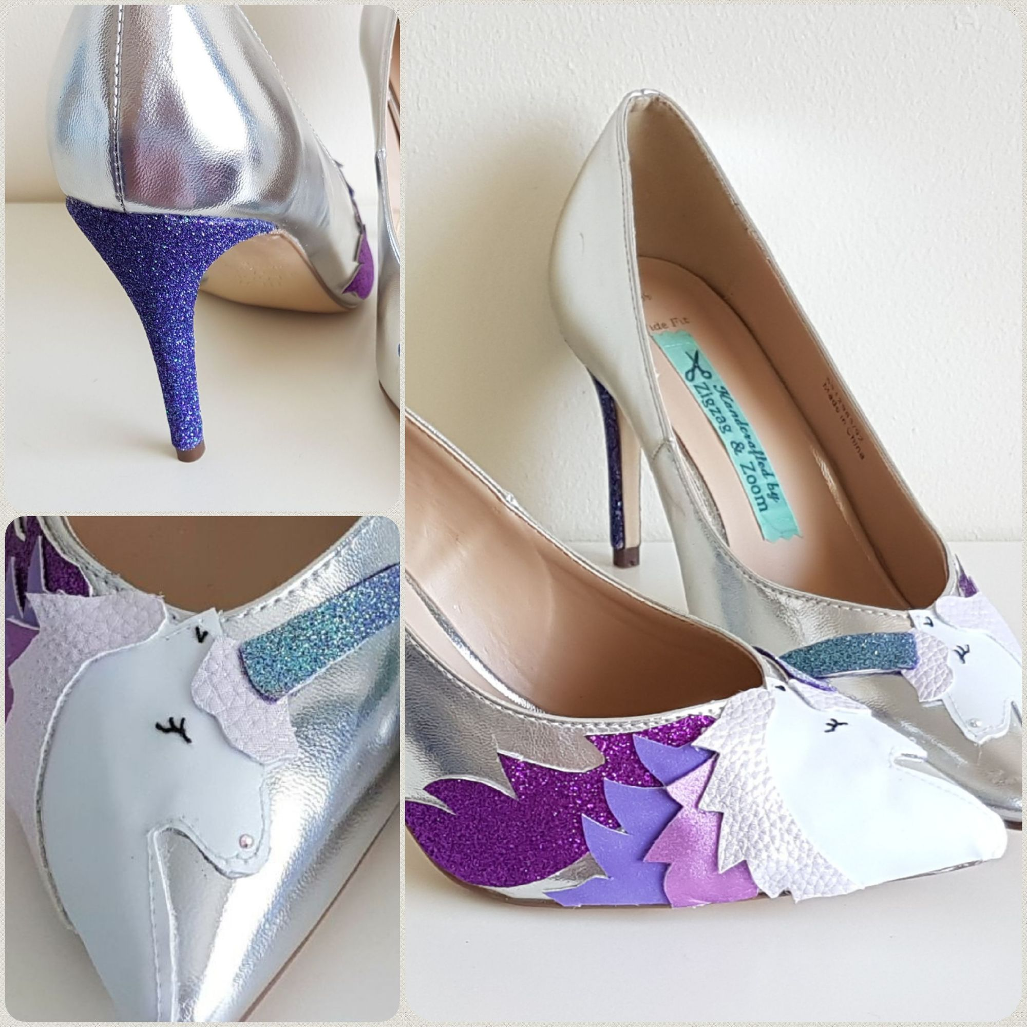 Stunning unicorn custom shoes, unicorn wedding theme, fairytale wedding ideas