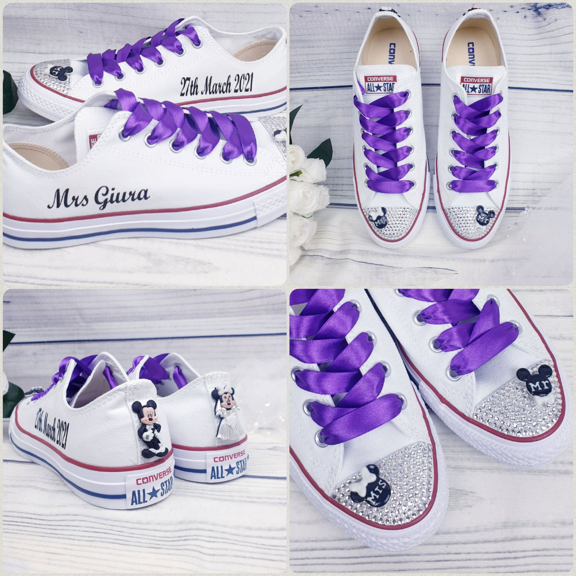 Purple Disney converse