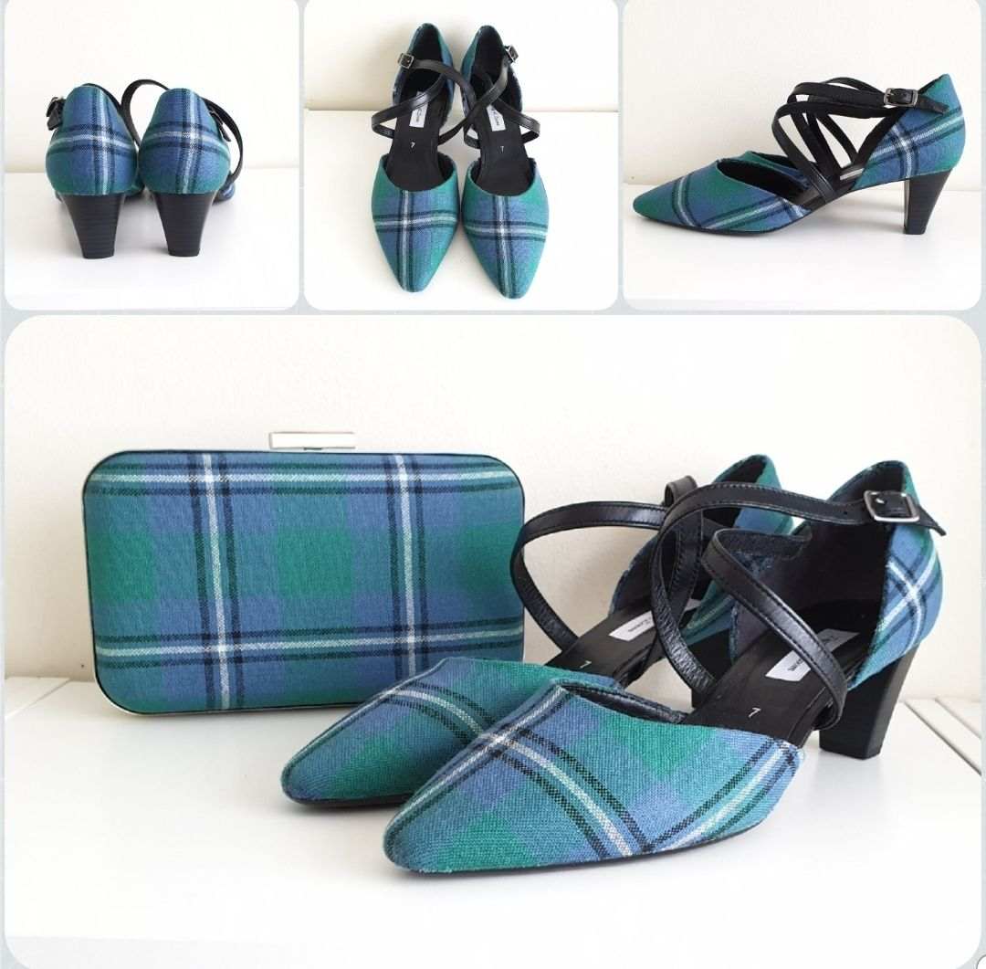 Ancient Irvone shoes and clutch bag