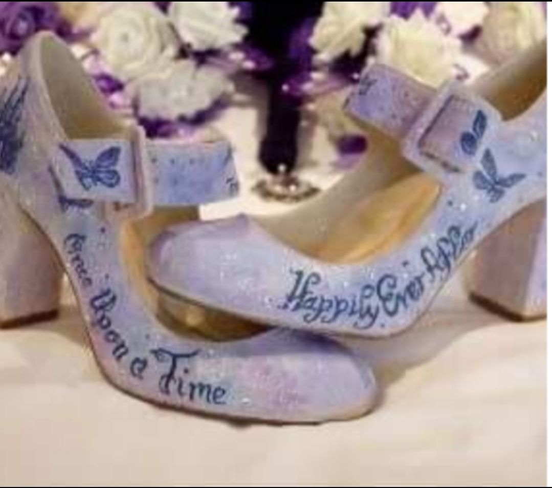 Happily Ever After custom painted shoes
