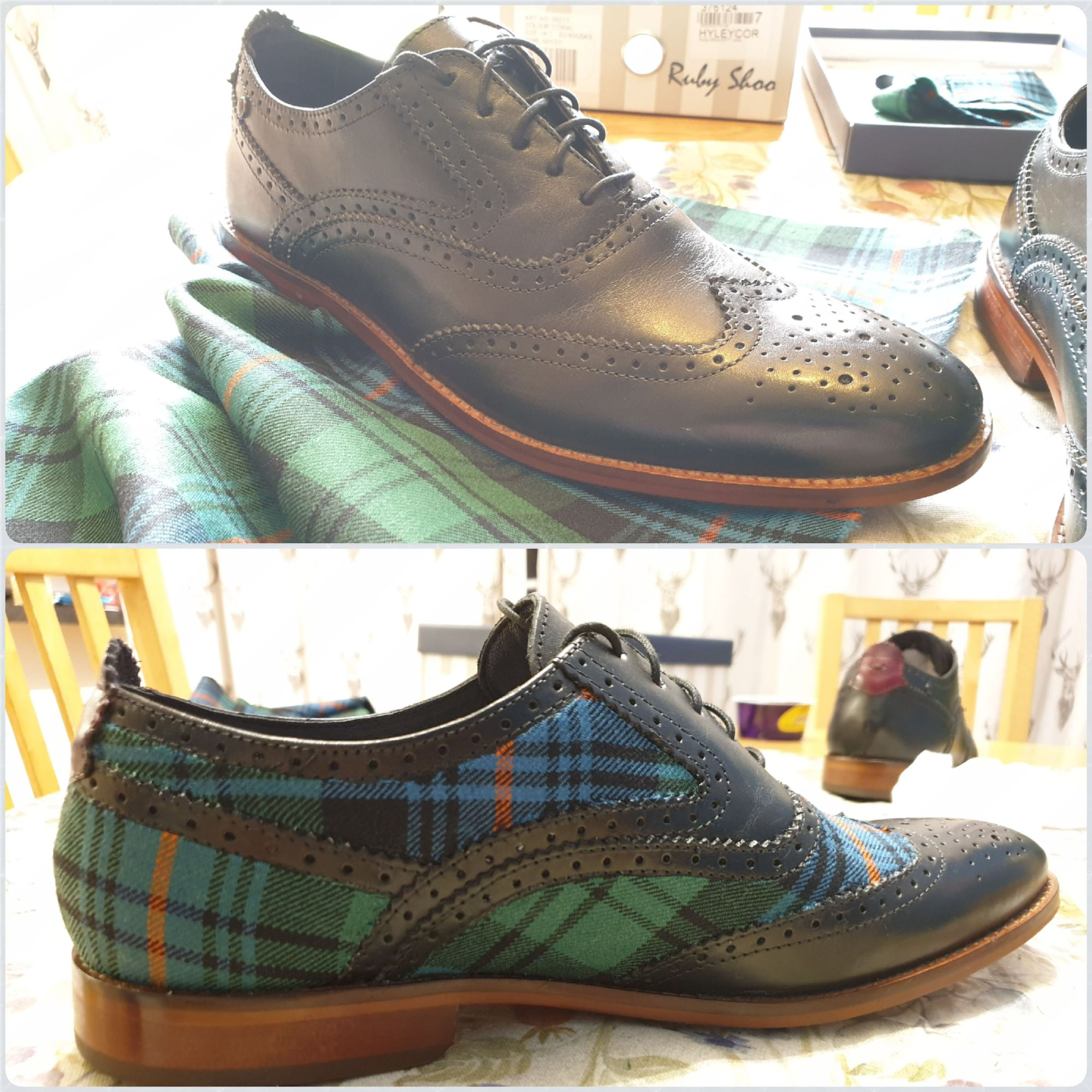 Custom Mens Tartan Brogues